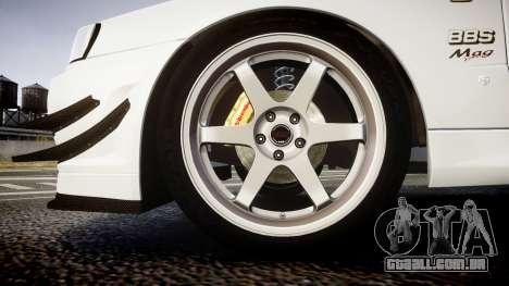 Nissan Skyline R34 GT-R Mines para GTA 4 vista de volta