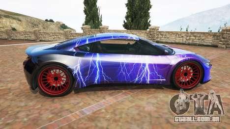 GTA 5 Dinka Jester (Racecar) Lightning PJ vista lateral esquerda
