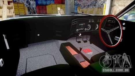 Ford Falcon XB GT351 Coupe 1973 para GTA 4 vista interior