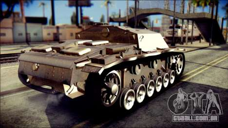 StuG III Ausf. G para GTA San Andreas esquerda vista
