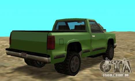 PS2 Yosemite para GTA San Andreas esquerda vista
