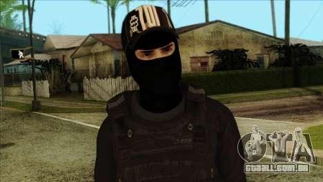 Sicario Skin v10 para GTA San Andreas terceira tela
