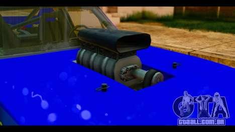 Chevy Nova NOS DRAG para GTA San Andreas vista traseira