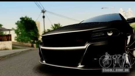 Dodge Charger RT 2015 Sword Art para GTA San Andreas traseira esquerda vista