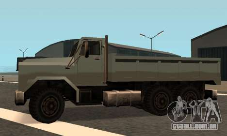 Flatbed Fixed para GTA San Andreas vista interior