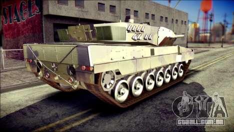 Leopard 2A6 para GTA San Andreas esquerda vista