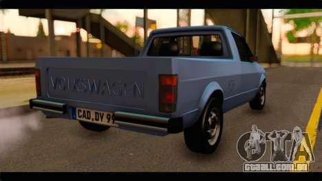 Volkswagen Caddy Mk1 Stock para GTA San Andreas esquerda vista