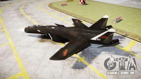 O Su-47 Berkut para GTA 4 esquerda vista