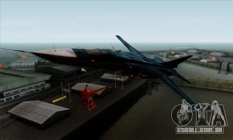 SU-24MP Fencer Blue Sea Camo para GTA San Andreas