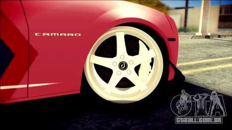 Chevrolet Camaro ZL1 Indonesian Police v2 para GTA San Andreas traseira esquerda vista