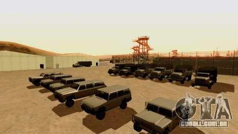 DLC 3.0 Militar atualização para GTA San Andreas quinto tela