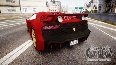 GTA V Pegassi Zentorno para GTA 4 traseira esquerda vista