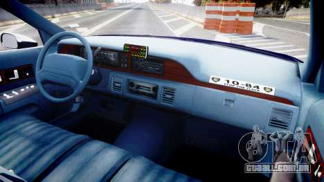 Chevrolet Caprice 1993 LCPD WH Auxiliary [ELS] para GTA 4 vista de volta