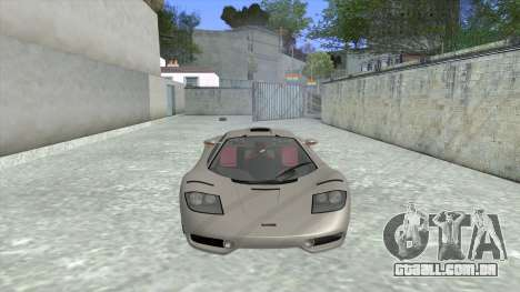1992 McLaren F1 Clinic Model Custom Tunable v1.0 para GTA San Andreas esquerda vista