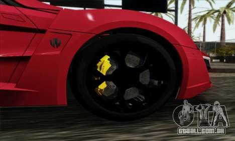 Lykan Hypersport 2014 Livery Pack 1 para GTA San Andreas traseira esquerda vista