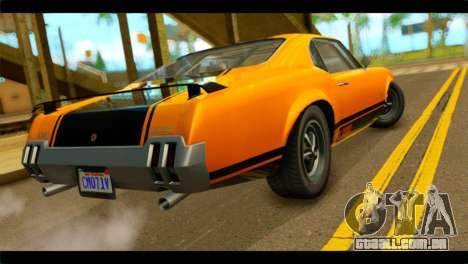 GTA 5 Declasse Sabre GT Turbo IVF para GTA San Andreas esquerda vista