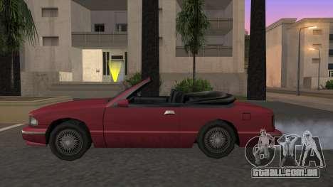 Premier Cabrio para GTA San Andreas esquerda vista