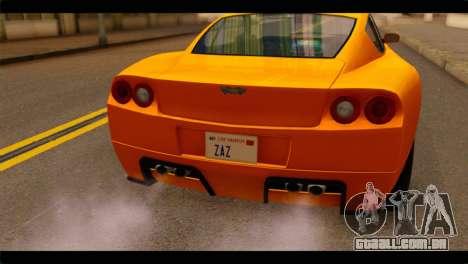 GTA 5 Dewbauchee Super GT para GTA San Andreas vista traseira