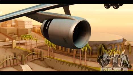 Lookheed L-1011 Air Canada para GTA San Andreas vista direita