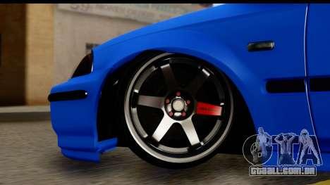Honda Civic Hatchback para GTA San Andreas vista traseira