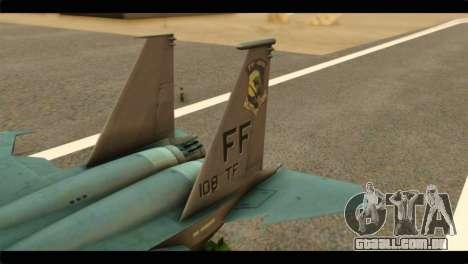 McDonnell Douglas F-15E Strike Eagle para GTA San Andreas traseira esquerda vista