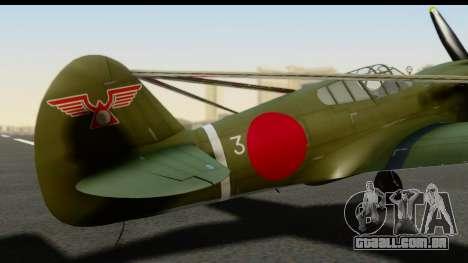 P-40E Kittyhawk IJAAF para GTA San Andreas vista traseira