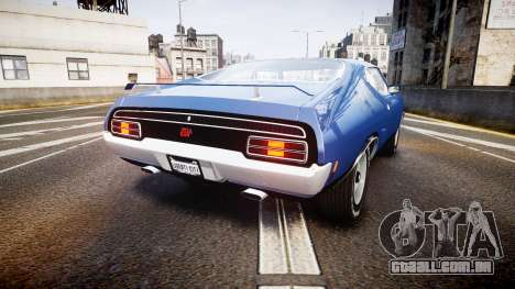 Ford Falcon XB GT351 Coupe 1973 para GTA 4 traseira esquerda vista