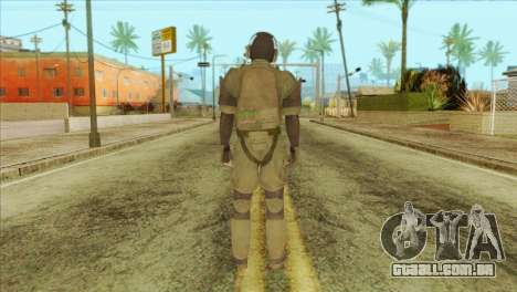 Metal Gear Solid 5: Ground Zeroes MSF v1 para GTA San Andreas segunda tela