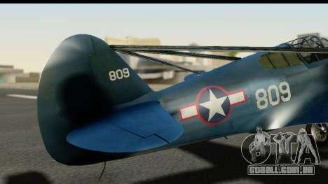 P-40E Kittyhawk US Navy para GTA San Andreas vista traseira