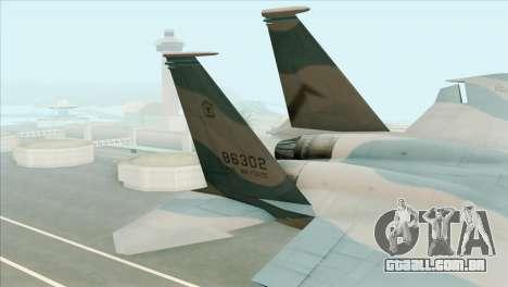 McDonnell Douglas F-15D Philippine Air Force para GTA San Andreas traseira esquerda vista