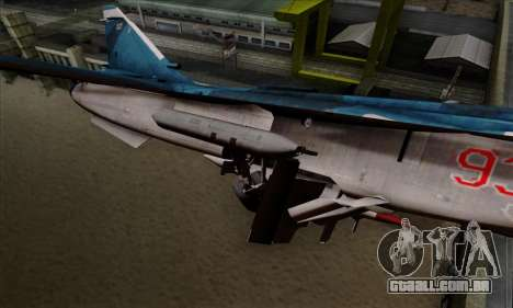 SU-24MP Fencer Blue Sea Camo para GTA San Andreas vista direita