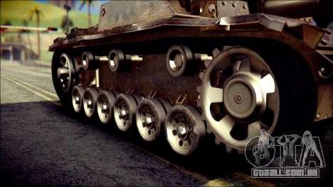 StuG III Ausf. G para GTA San Andreas vista direita