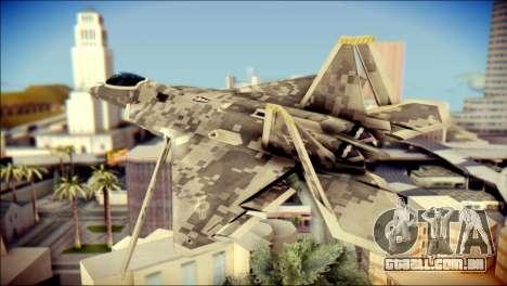 F-22 Raptor Digital Camo para GTA San Andreas esquerda vista