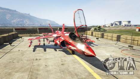 Hydra red camouflage para GTA 5