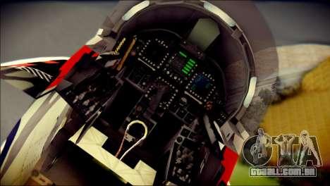 FA-18D Hornet RCAF Tigermeet para GTA San Andreas vista traseira