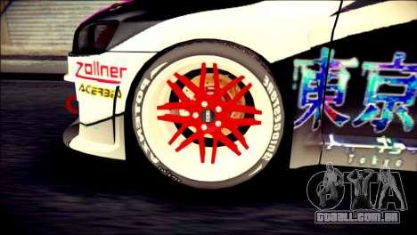 Mitsubishi Lancer Evolution X Juuzo Itasha para GTA San Andreas traseira esquerda vista