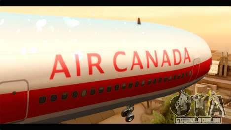 Lookheed L-1011 Air Canada para GTA San Andreas vista traseira