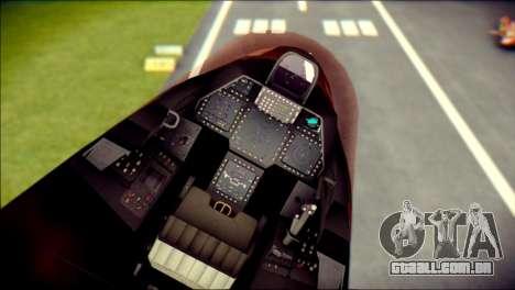 F-22 Raptor G1 Starscream para GTA San Andreas vista direita