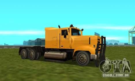 PS2 RoadTrain para GTA San Andreas vista traseira