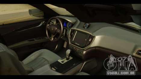 Maserati Ghibli S 2014 v1.0 EU Plate para GTA San Andreas vista direita