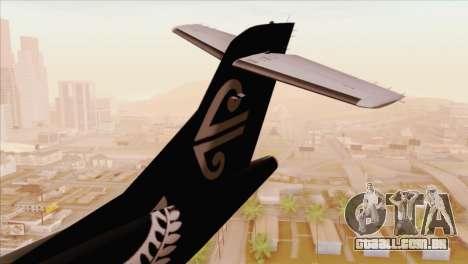 ATR 72-500 Air New Zealand para GTA San Andreas traseira esquerda vista