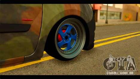 Mercedes-Benz Citan Stance para GTA San Andreas traseira esquerda vista