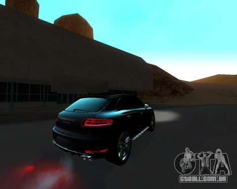 Porsche Macan Turbo para GTA San Andreas vista interior