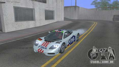 1992 McLaren F1 Clinic Model Custom Tunable v1.0 para GTA San Andreas interior