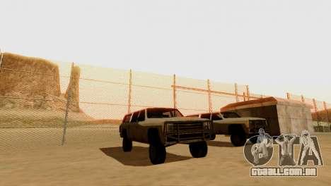 DLC 3.0 Militar atualização para GTA San Andreas twelth tela