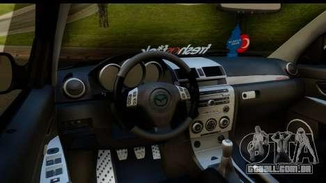 Mazda 3 2008 para vista lateral GTA San Andreas