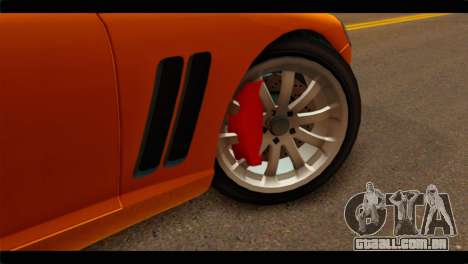 GTA 5 Dewbauchee Super GT para GTA San Andreas traseira esquerda vista