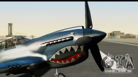 P-40E Kittyhawk US Navy para GTA San Andreas vista direita