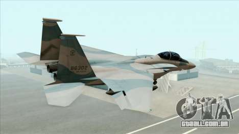 McDonnell Douglas F-15D Philippine Air Force para GTA San Andreas esquerda vista