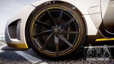 Koenigsegg Agera 2013 Police [EPM] v1.1 Low Qual para GTA 4 vista de volta